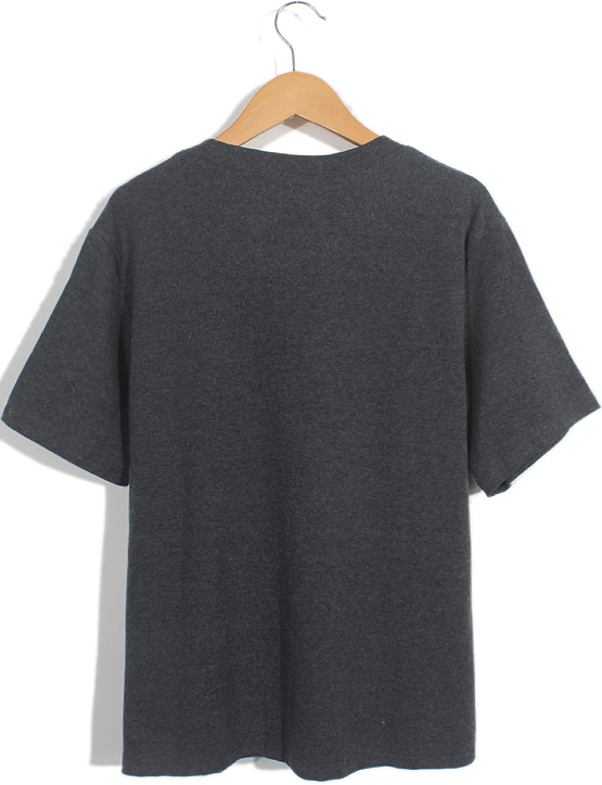 Dark Grey Short Sleeve Bicycle Letters Print T-Shirt - Sheinside.com