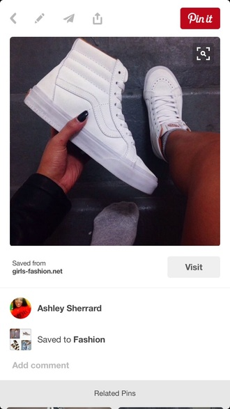 shoes vans white