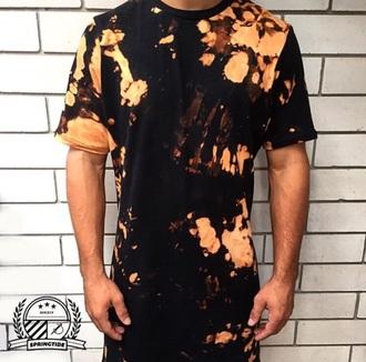 t-shirt men shirts swag tie dye talltee urban menswear streetwear mens t-shirt