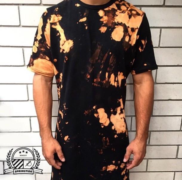 T shirt men shirts swag tie dye talltee urban for Urban streetwear t shirts