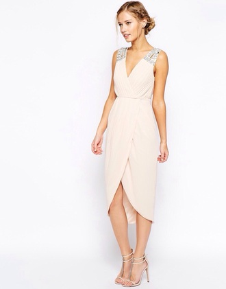 dress this but in navy blue tfnc asos