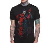 shirt,death,dance,dancing,red,black,skeleton,dark,tattoo,deadpool,mens t-shirt