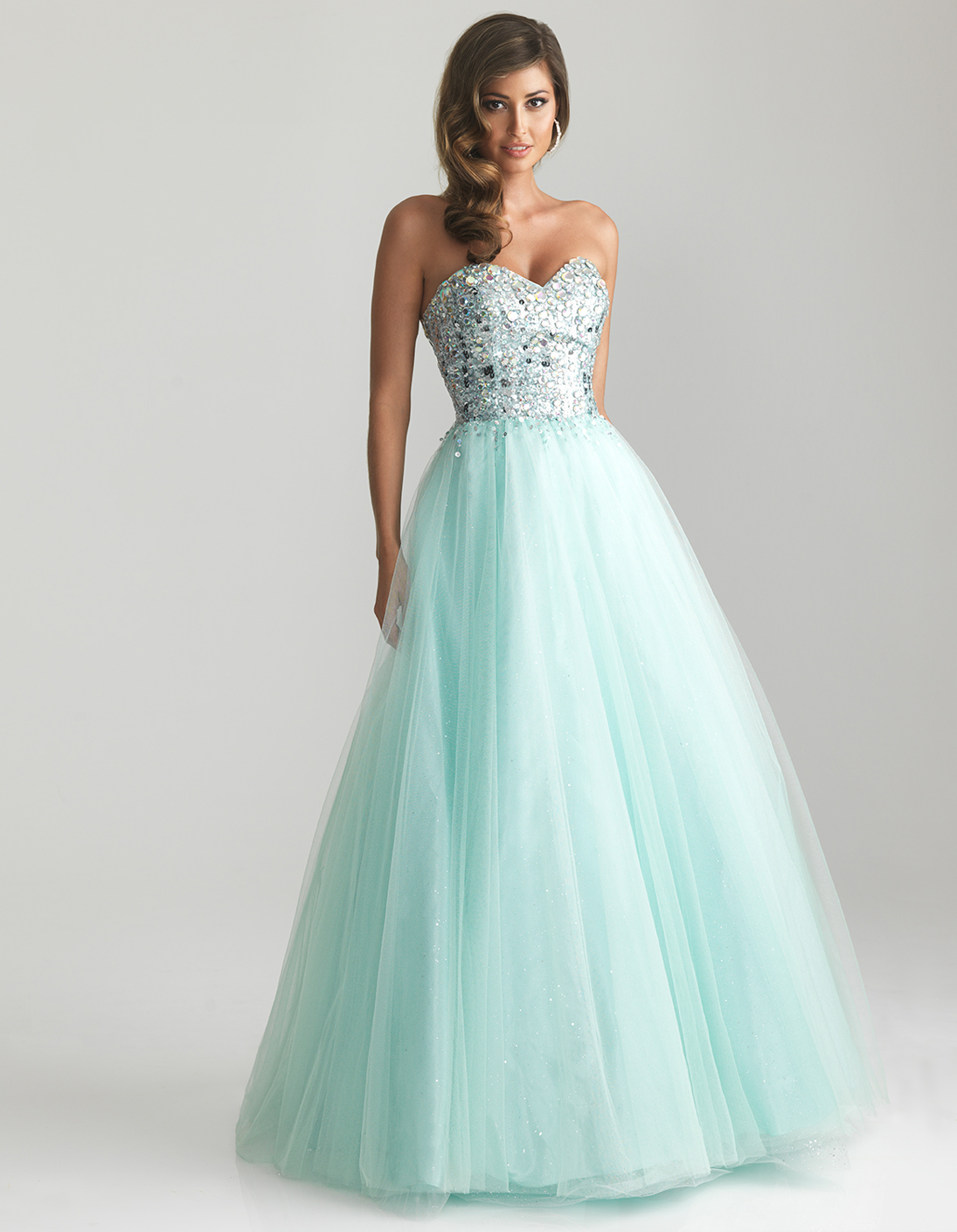 Beaded Tulle Sweetheart Prom Gown - Unique Vintage - Prom dresses ...