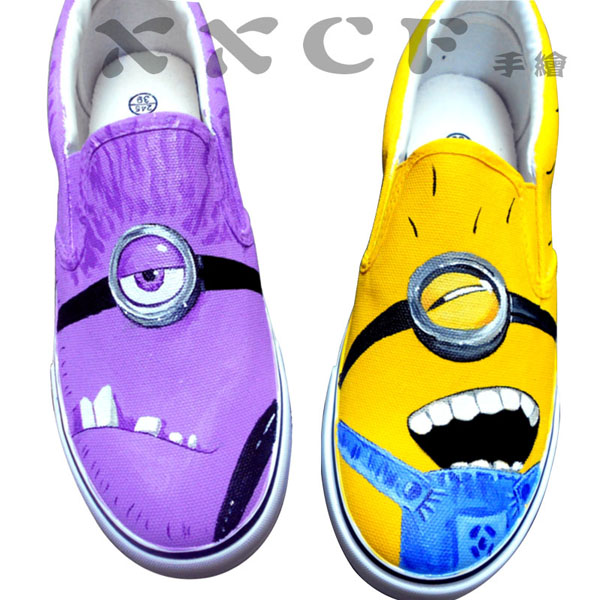 minion vans shoes Despicable Me Unicorn Custom Painted Shoes van,Slip-on Painted Canvas Shoes