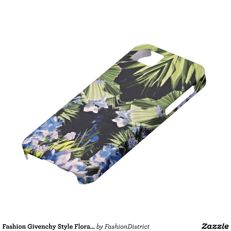 Fashion Givenchy Style Floral iPhone 5 Case from Zazzle.com