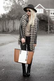 sammi jackson,blogger,bag,jeans,houndstooth