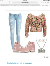 sweater,forever,infinity,flowers,print,pink,cute