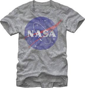 NASA Logo Distressed Men's Heather Grey T Shirt | eBay
