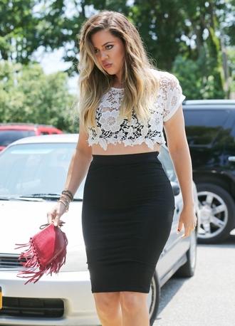 bag khloe kardashian skirt fringed bag
