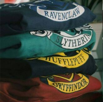printed sweater hoodie slytherin green sweater black sweater red sweater harry potter geek sweater gryffindor hufflepuff ravenclaw