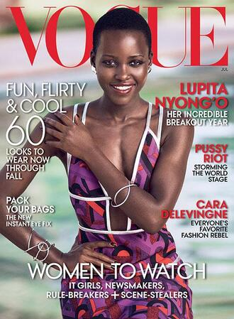 lupita nyong'o dress vogue summer dress jewels bracelets prada editorial