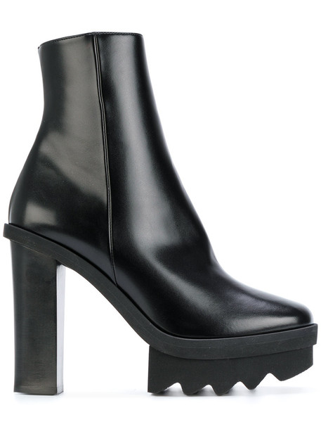 Stella McCartney women ankle boots leather black shoes