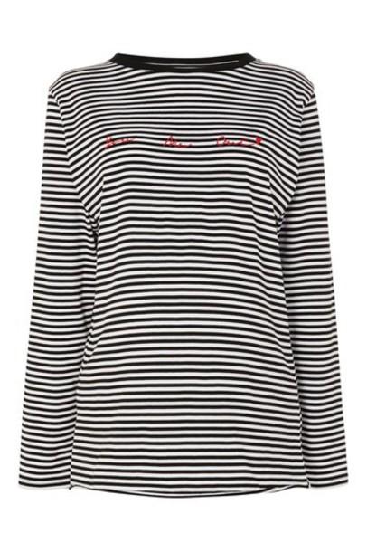 Topshop t-shirt shirt t-shirt monochrome top