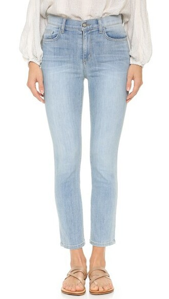 jeans straight jeans cropped
