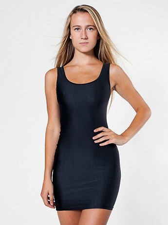 Nylon Tricot Tank Pencil Dress | American Apparel