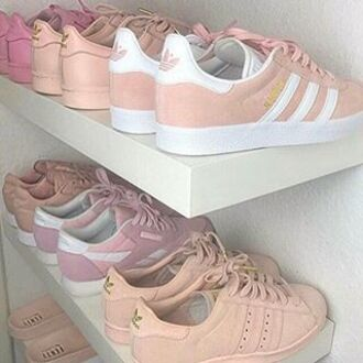 shoes adidas pink peach