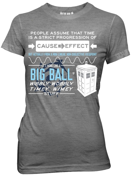 Geek Chic >> Doctor Who Wibbly Wobbly Timey Stuff Women's T-Shirt