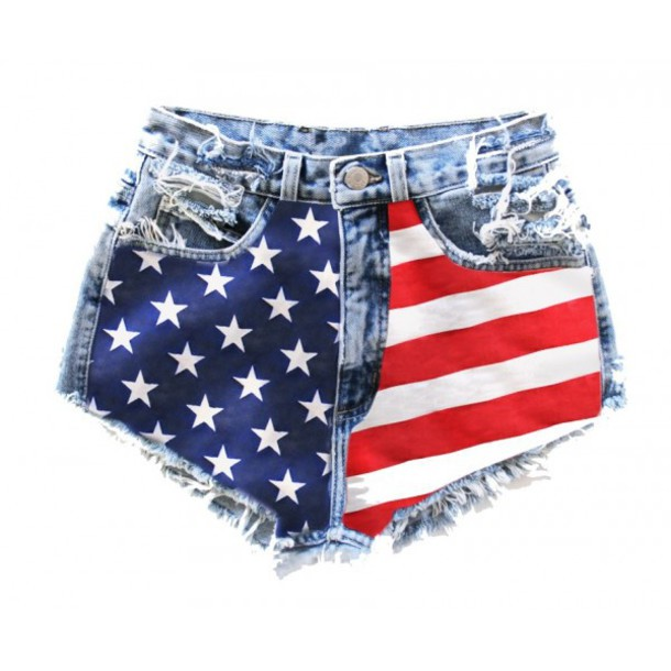 jeans drapeau americain shorts american flag need  festival