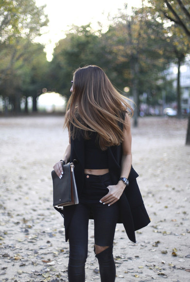 jeans rock top blogger jewels b a r t a b a c bag ripped jeans