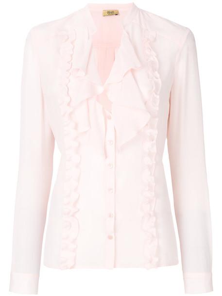 LIU JO blouse women silk purple pink top