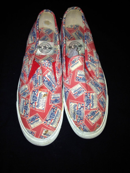 hipster hippie vintage shoes boho cool gypsy canvas shoes deadstock budweiser sneakers vintage sneakers tennis punk hippie boho gypsy dope budweiser sneakers rihanna vans fashion with authenticity fucking awesome dope shit instagram tumblr fashion smile