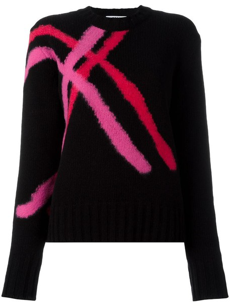 MSGM jumper women black wool sweater