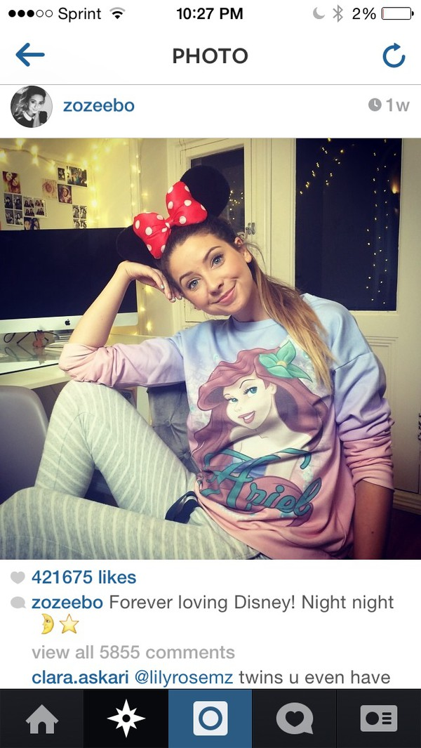 disney zoella crewneck disney crewneck arielle the mermaid