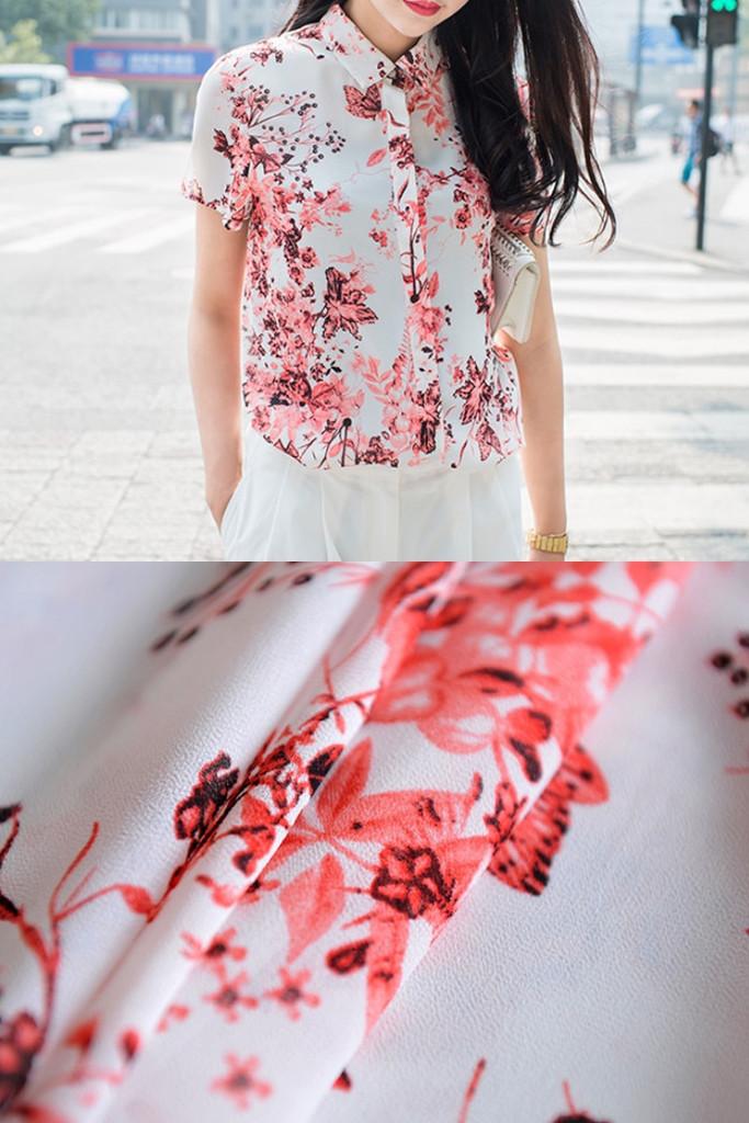 Floral Print Shirt | SHALEX.NET