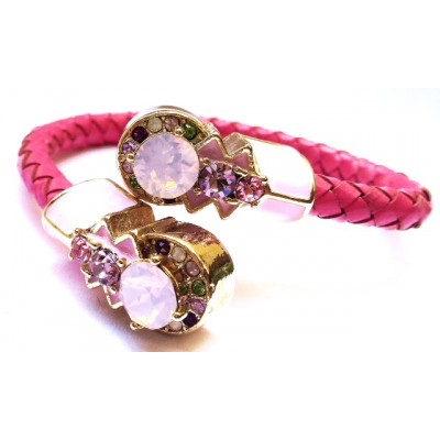 """BRIDGET"" PINK WIRED BRACELET"