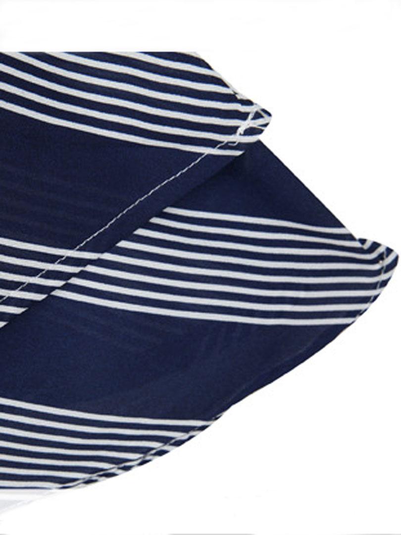 Blue Stripes Spaghetti Strap Vest - Choies.com
