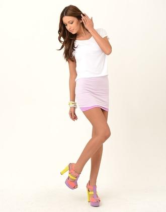 shoes pastel high heels heels pink yellow purple platform shoes