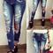 Women's brand vintage skinny denim jeans slim