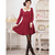 japanese style students collar dress k1002725 Red - Leeyoung Wholesale Fashion