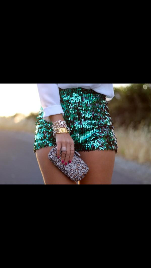 shorts Sequin shorts jewels