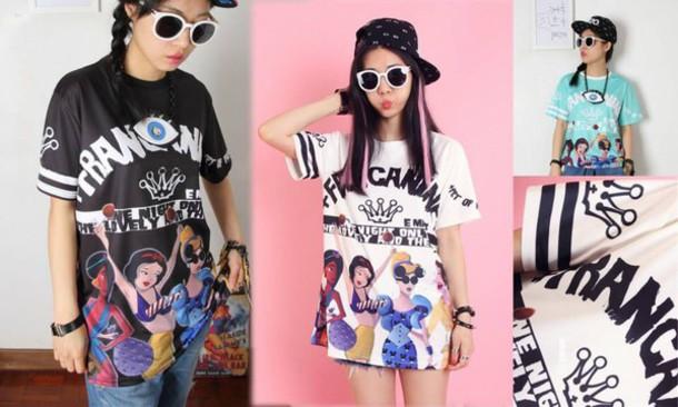 shirt t-shirt grunge tumblr hipster harakuku japan asia paste goth china cool black white kawaii style