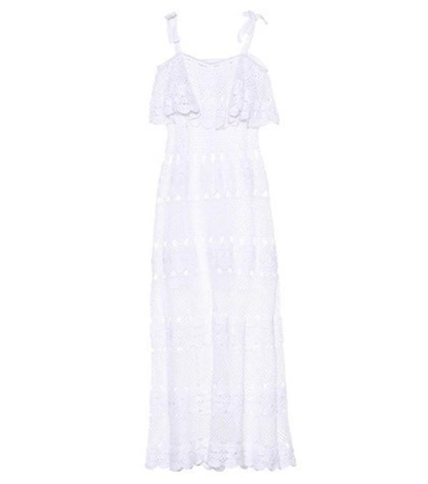 Anna Kosturova Marianne crocheted cotton dress in white