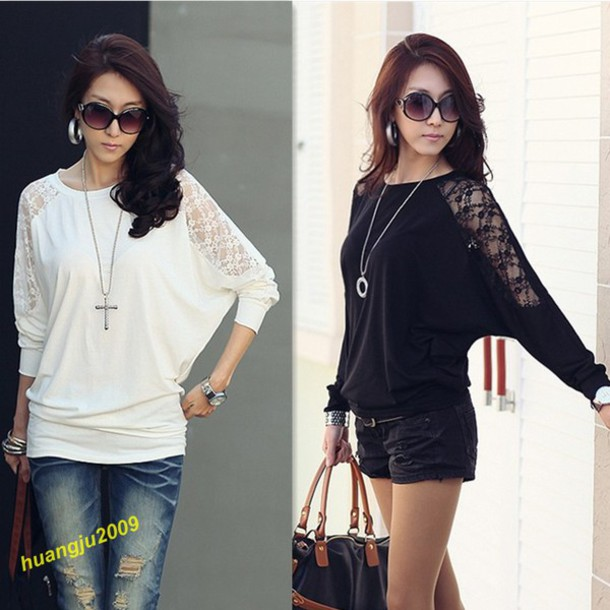 sweater top shirt blouse lace