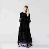 dress,black dress,lace,lace dress,bag black leather leopard,black lace,maxi dress,festival dress,bohemian dress,bohemian,boho,hippie,hippie chic,boho dress,beach dress,romantic,gothic high-low dresses,gothic dress,black gothic dress