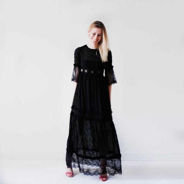 Black hippie maxi dress