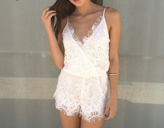 romper lace playsuit white lace playsuit white lace romper greay playsuit