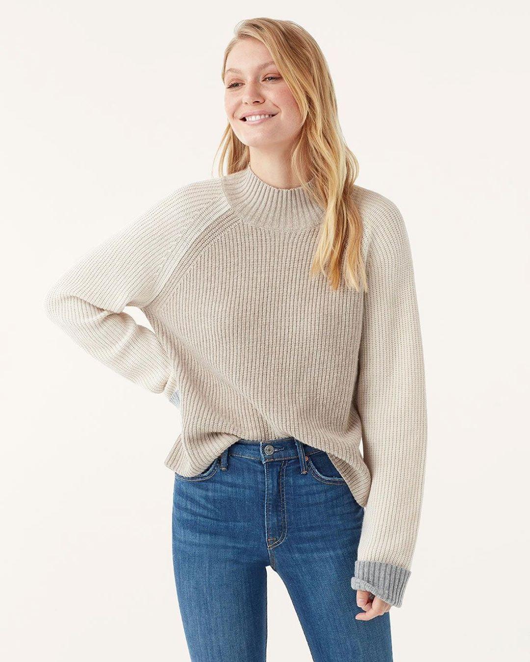Alta Color Block Pullover