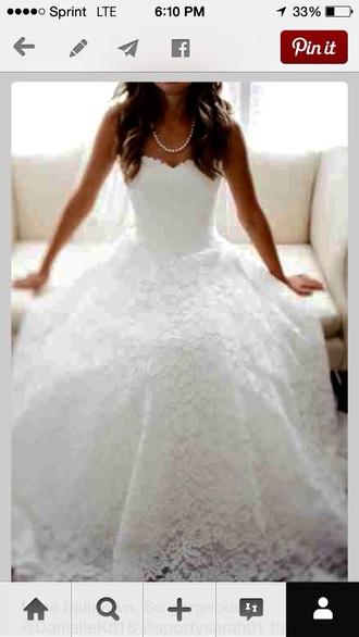 dress wedding dress strapless wedding dresses lace dress white dress