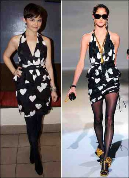 ginnifer goodwin dress cute heart black and white