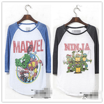 2014 autumn t shirt Marvel comics Ninja cartoon printed Fashion retro loose vintage bf style basic casual tops women plus size-inT-Shirts from Apparel & Accessories on Aliexpress.com | Alibaba Group