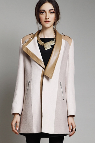 Street-chic Paneled Wool-blend Coat - OASAP.com