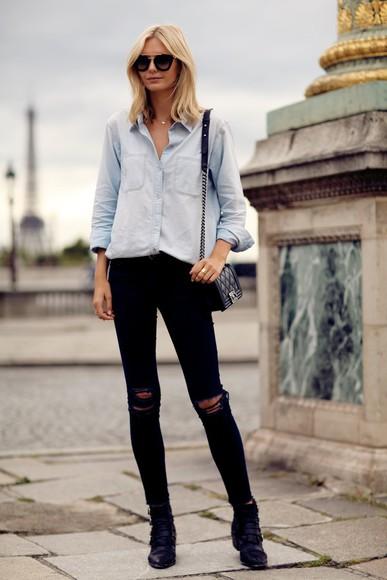blogger jeans bag jewels sunglasses tuula