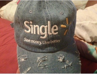 hat denim single