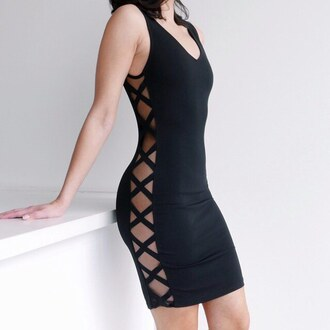 dress ootd vegas sexy dress sexy bodycon black dress little black dress gojane
