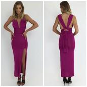 dress,wrapper dress,wrapped dress,formal dress,prom dress,cocktail dress,fuchsia,peppermayo