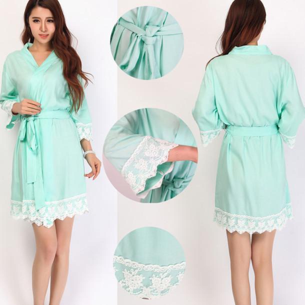pajamas mint robes kimono robes bridesmaid robes bridesmaid